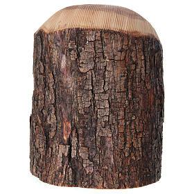 Natività in nicchia ulivo di Betlemme 25x10x15 cm modelli assortiti s12