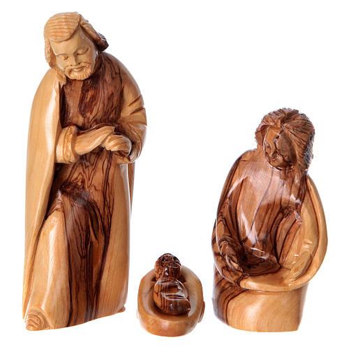 Natività in nicchia ulivo di Betlemme 25x10x15 cm modelli assortiti 3