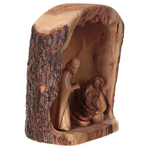 Natività in nicchia ulivo di Betlemme 25x10x15 cm modelli assortiti 7