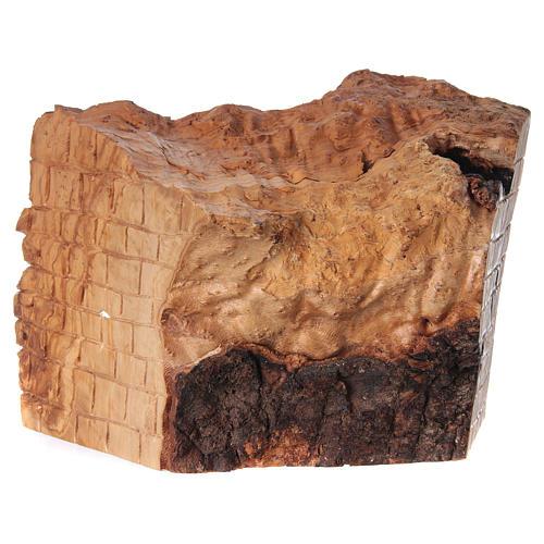 Natività ulivo di Betlemme in stalla forma asimmetrica 20x30x20 cm. 5