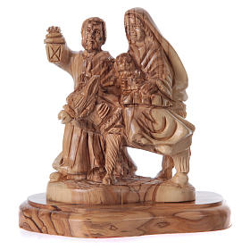 Holy Family in olive wood from Bethlehem 21 cm s5
