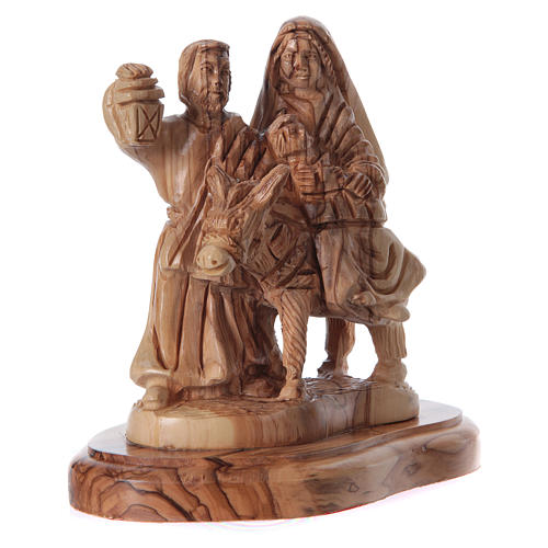 Holy Family in olive wood from Bethlehem 21 cm 7