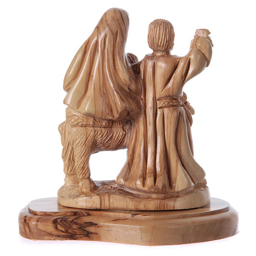 Holy Family in olive wood from Bethlehem 21 cm 8