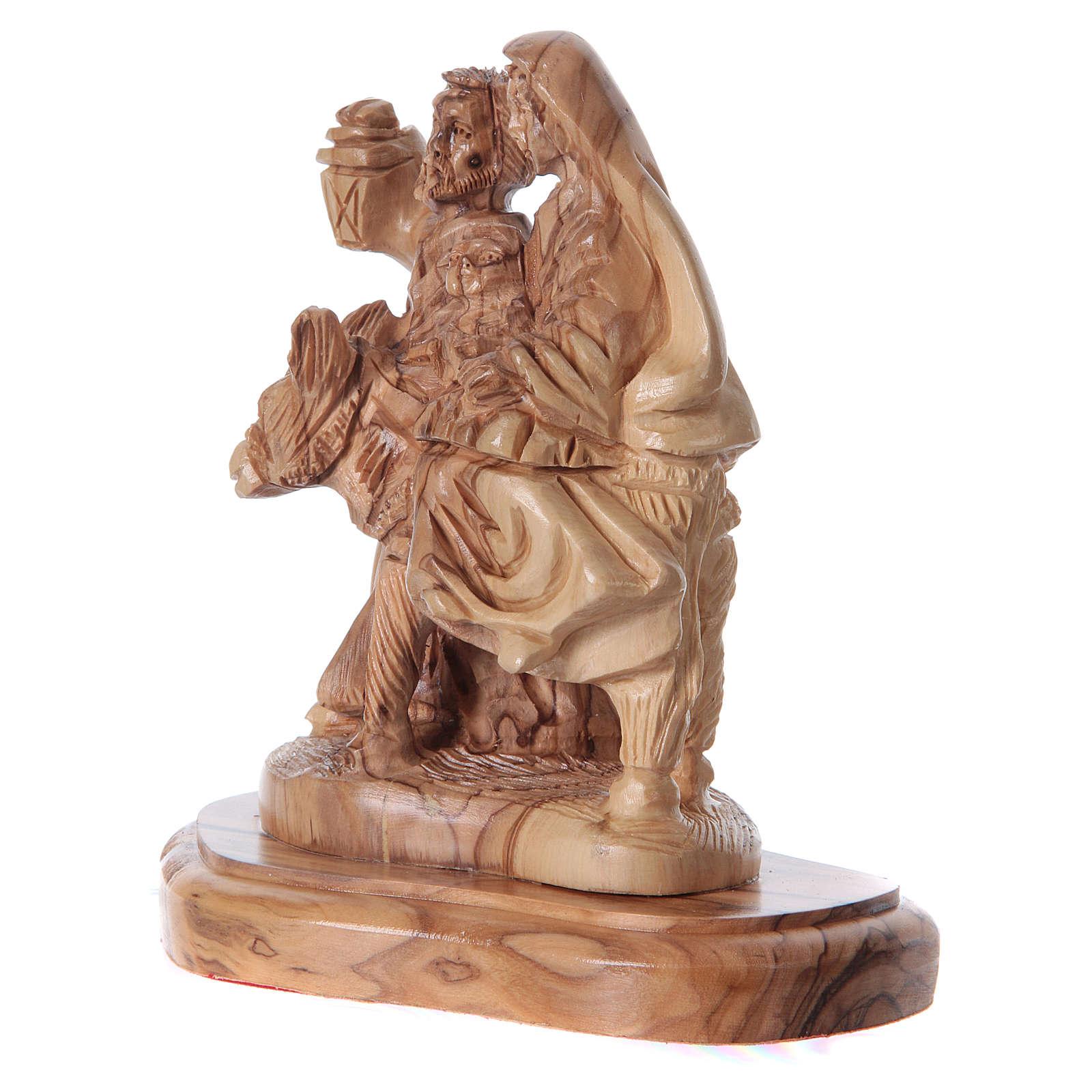 Statua Natività ulivo di Betlemme 20 cm 4