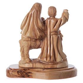 Statua Natività ulivo di Betlemme 20 cm s8