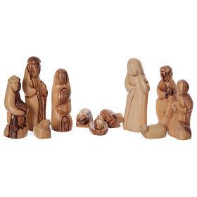 Casetta in ulivo Betlemme con set presepe stilizzato 20x25x15 cm s2