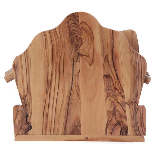 Maisonnette en olivier Bethléem avec crèche complète stylisée 20x20x15 cm 6