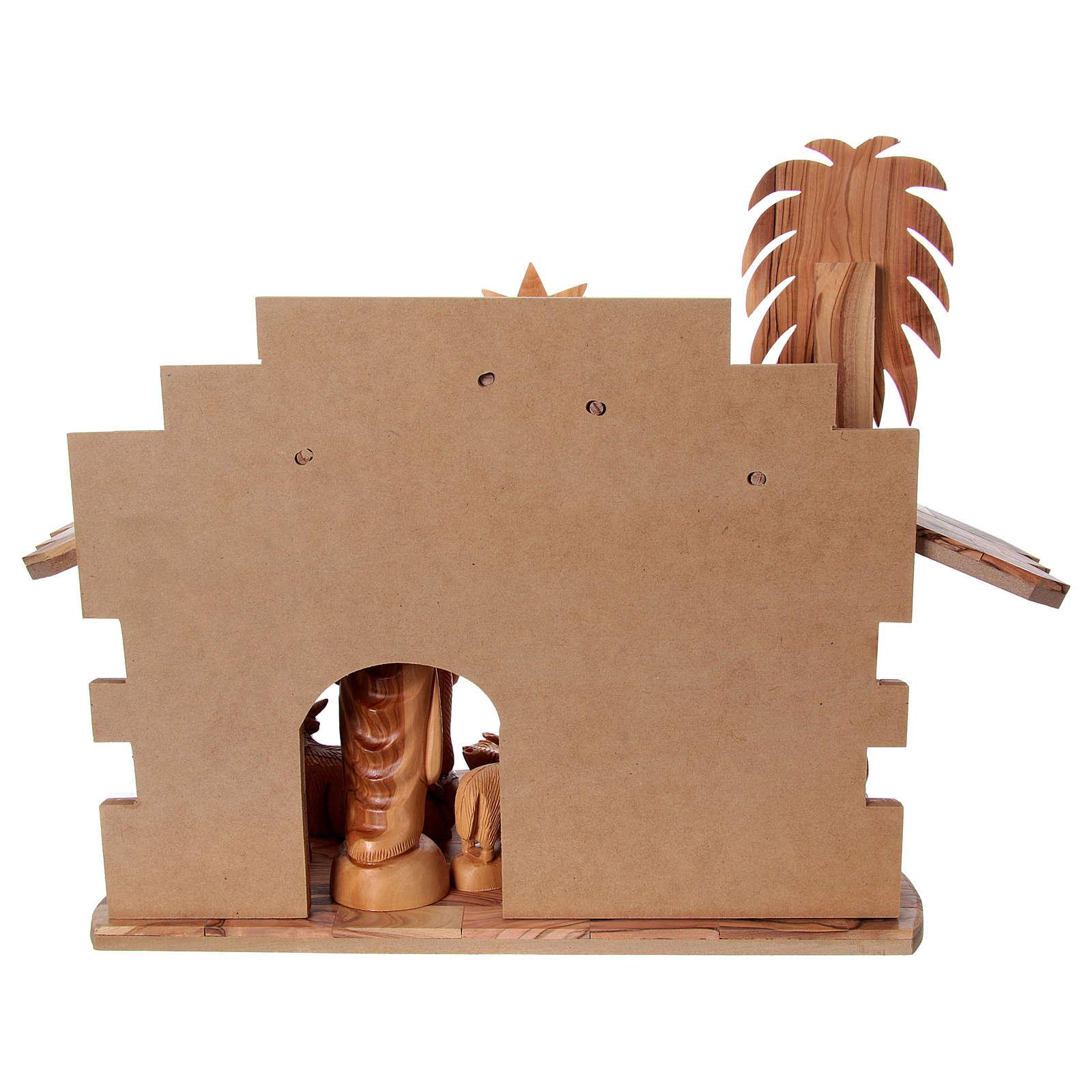 Presépio completo oliveira de Belém altura média das figuras 22 cm com cabana 30x40x25 cm 4