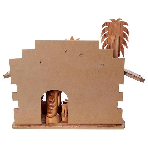 Presépio completo oliveira de Belém altura média das figuras 22 cm com cabana 30x40x25 cm 6