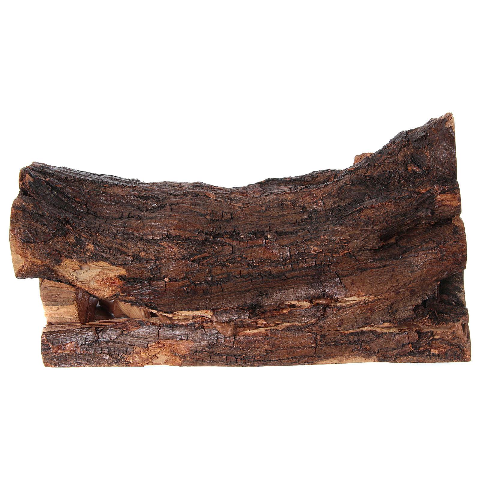 Presepe ulivo di Betlemme in stalla naturale 25x40x20 cm 4