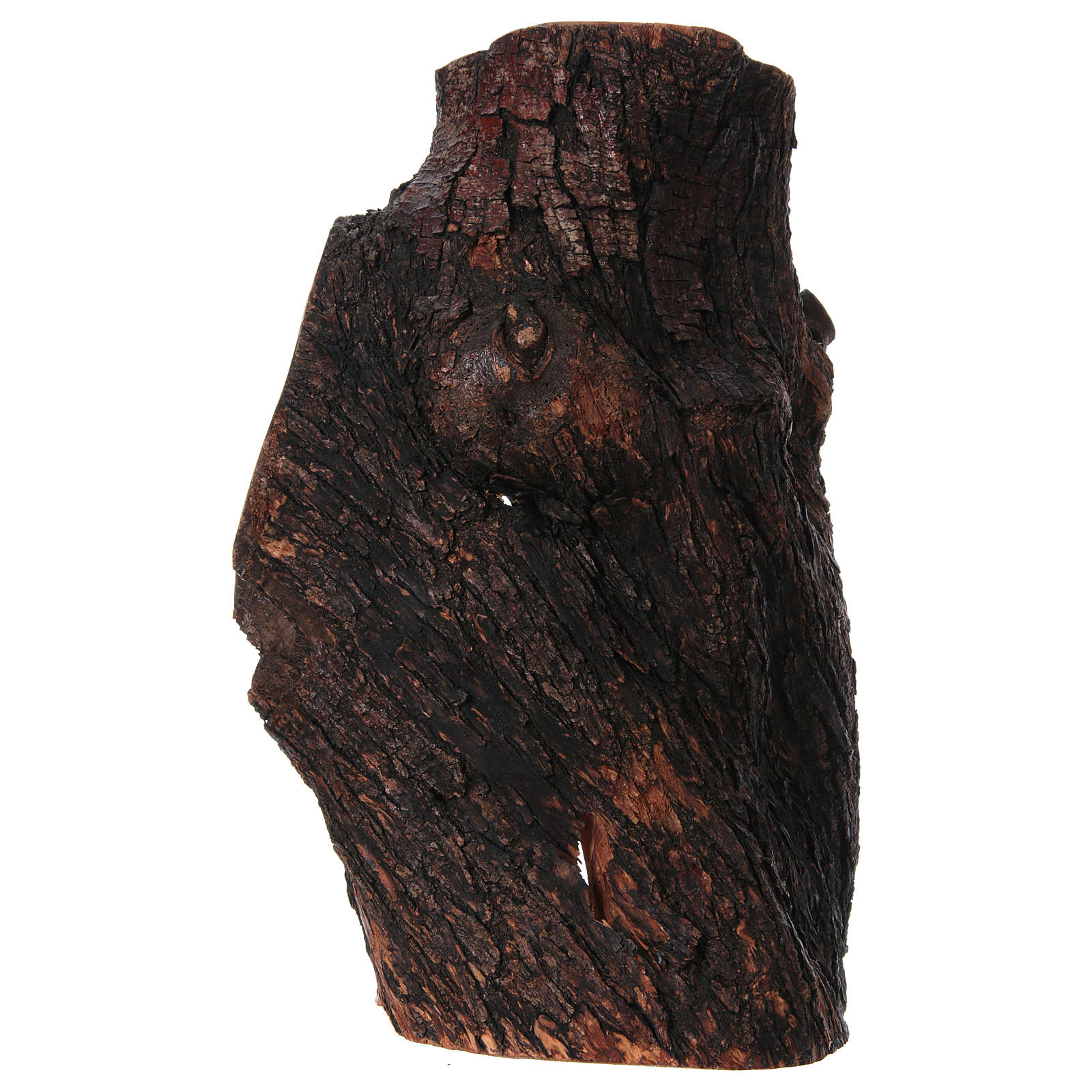 Presepe completo ulivo di Betlemme 21 cm in grotta naturale 45x30x30 cm 4