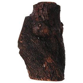 Presepe completo ulivo di Betlemme 21 cm in grotta naturale 45x30x30 cm s6