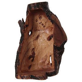 Presépio completo oliveira de Belém figuras altura média 21 cm em gruta natural 45x30x30 cm s5