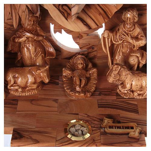 Nativity music box in Bethlehem olive wood 2