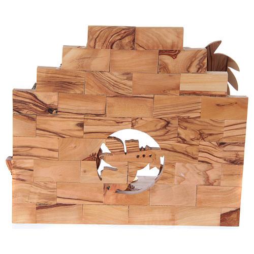 Nativity music box in Bethlehem olive wood 5