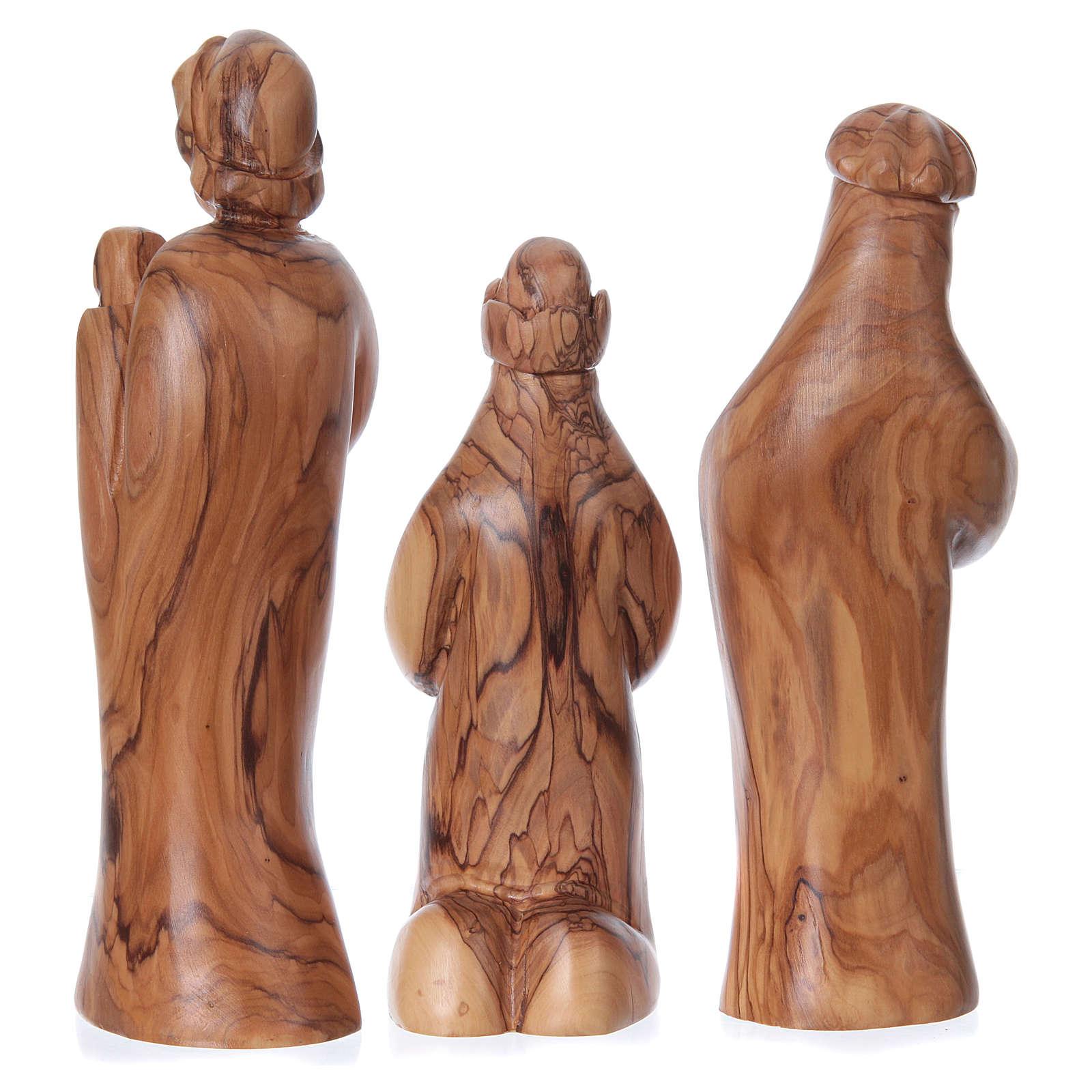 Set Presepe stilizzato ulivo di Betlemme 29 cm 4
