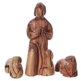 Set Presepe stilizzato ulivo di Betlemme 29 cm s4