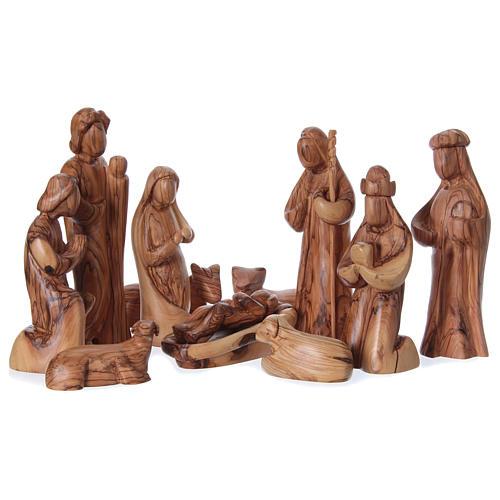 Set Presepe stilizzato ulivo di Betlemme 29 cm 1