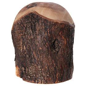 Nicchia con Natività ulivo di Betlemme 20x15x10 cm s6