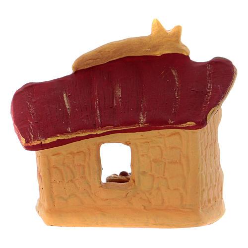 Cabaña con Natividad coloreada de terracota Deruta h.10 cm 4