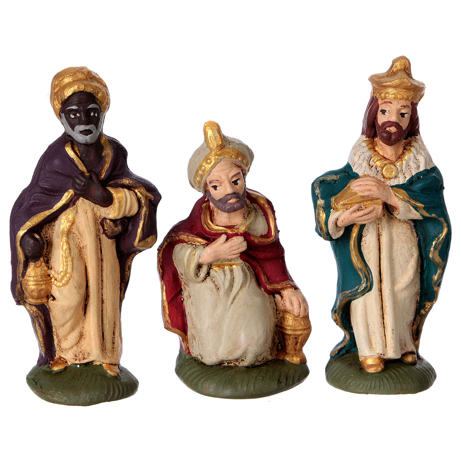Presepe in terracotta Deruta colorata 10 statuine 10 cm 4