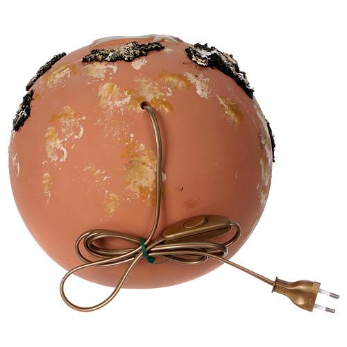 Bola belén con luz de terracota Deruta 5 piezas 5