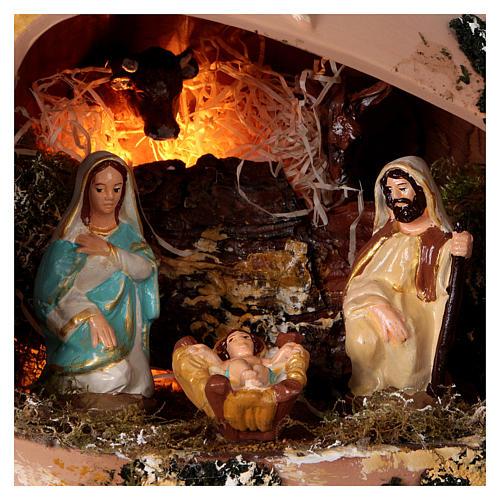 Ánfora tumbada con Natividad de terracota Deruta 2