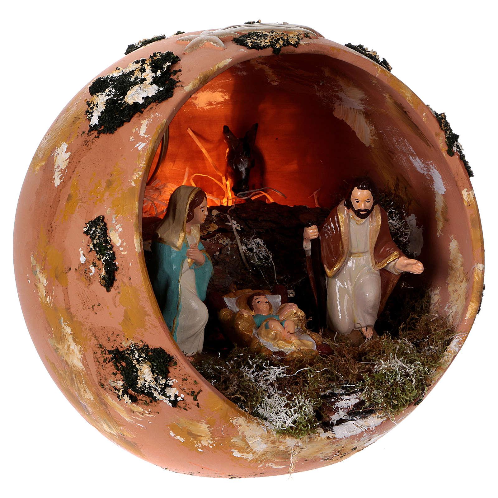 Palla in terracotta Deruta Natività 4