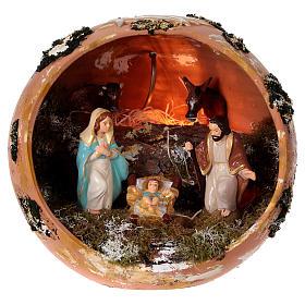Presépio Terracota Deruta: Bola em terracota Deruta Natividade
