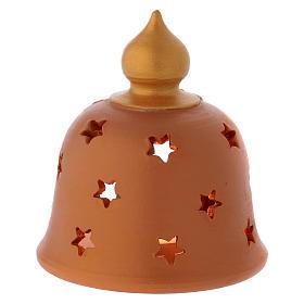 Capanna con lume decorata terracotta Deruta 10 cm s4