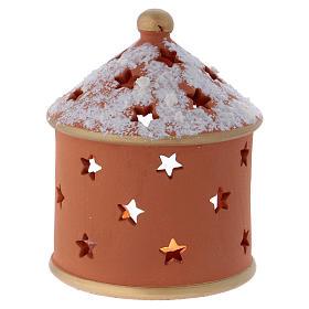 Casetta cilindrica terracotta Deruta Natività 15 cm s4