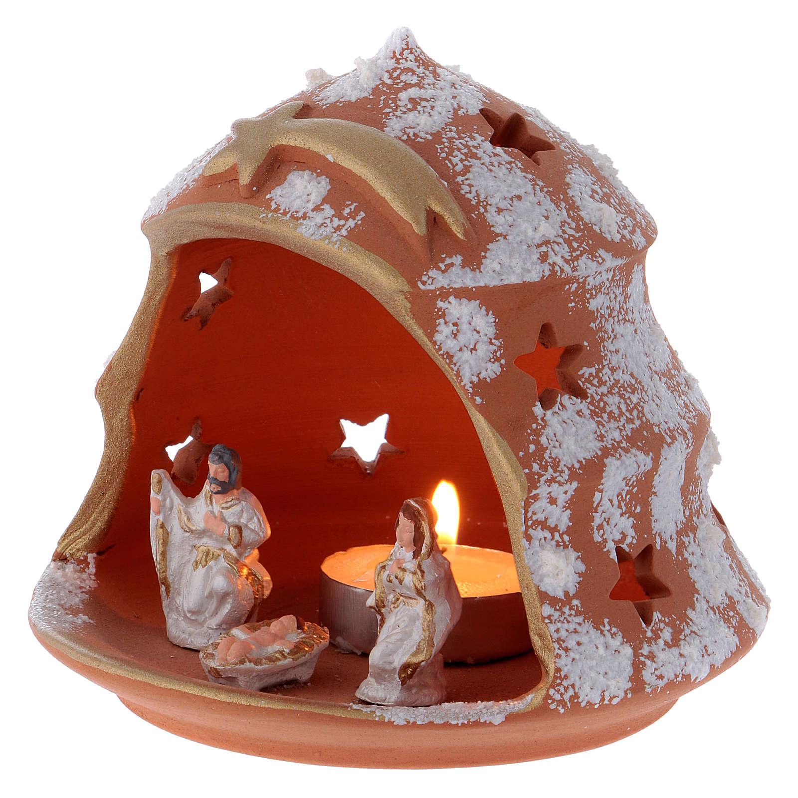 Árbol vela terracota Deruta con Natividad 4
