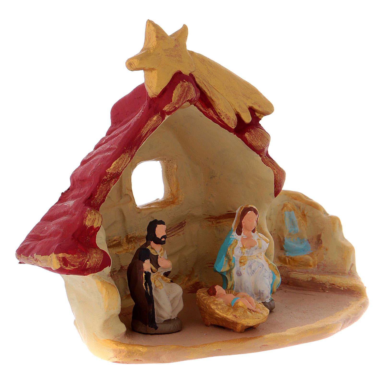 Casetta con Sacra Famiglia terracotta di Deruta 4