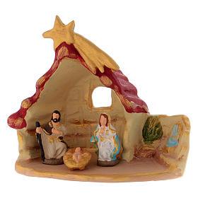 Casetta con Sacra Famiglia terracotta di Deruta s1