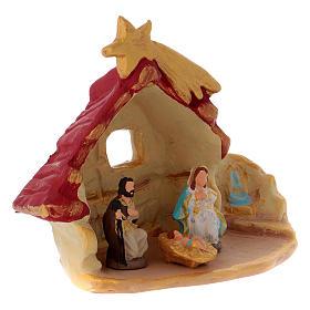 Casetta con Sacra Famiglia terracotta di Deruta s3