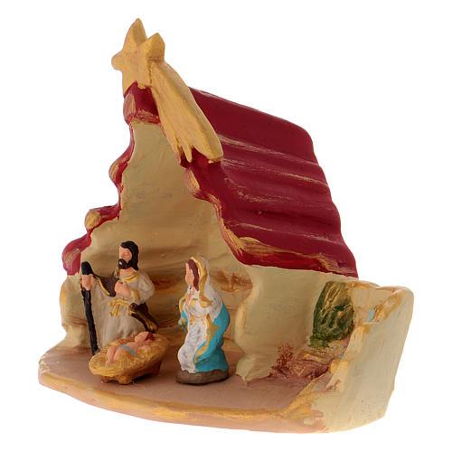Casetta con Sacra Famiglia terracotta di Deruta 2