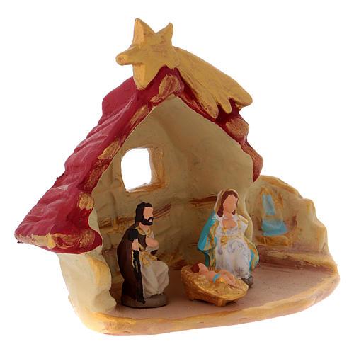 Casetta con Sacra Famiglia terracotta di Deruta 3