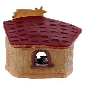Cabaña de terracota coloreada Deruta con belén 5 piezas y cometa s4