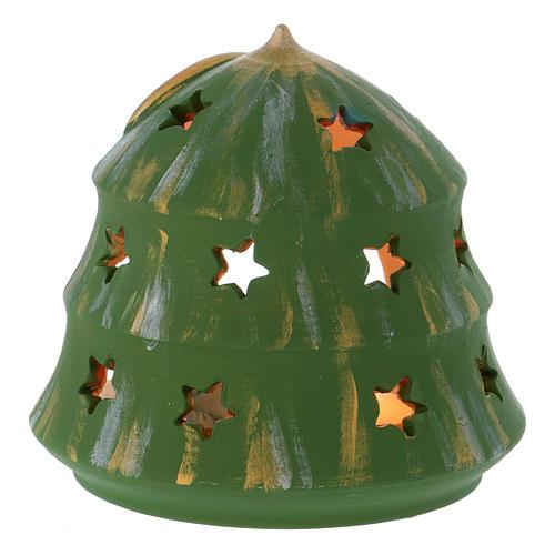 Portalumino Albero di Natale con Natività in terracotta Deruta 4