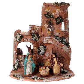 Presépio Terracota Deruta: Telha em terracota Deruta natural com Natividade