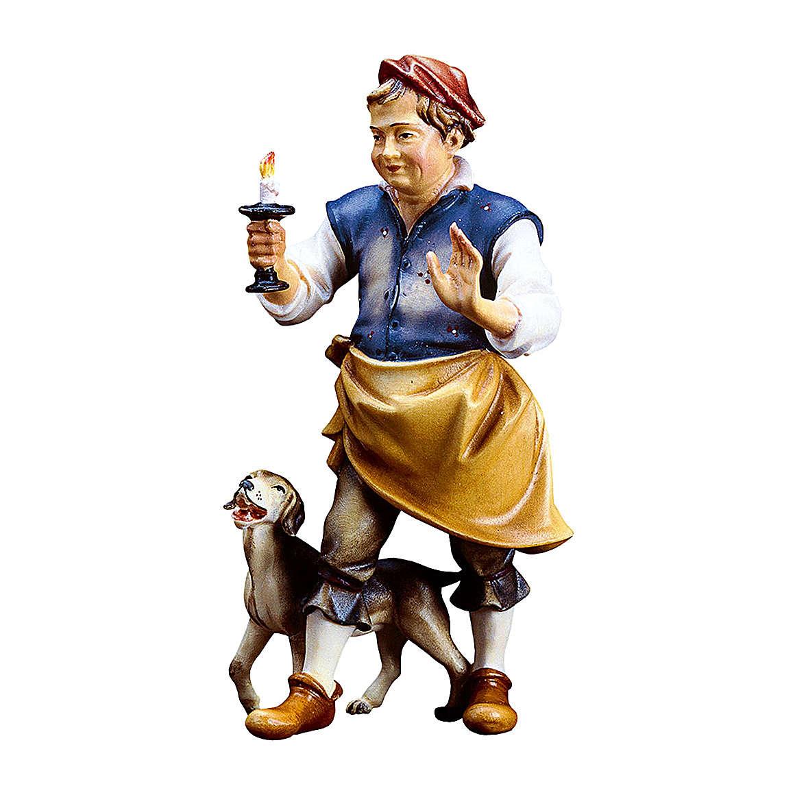 Oste con cane presepe Original legno dipinto in Valgardena 10 cm 4