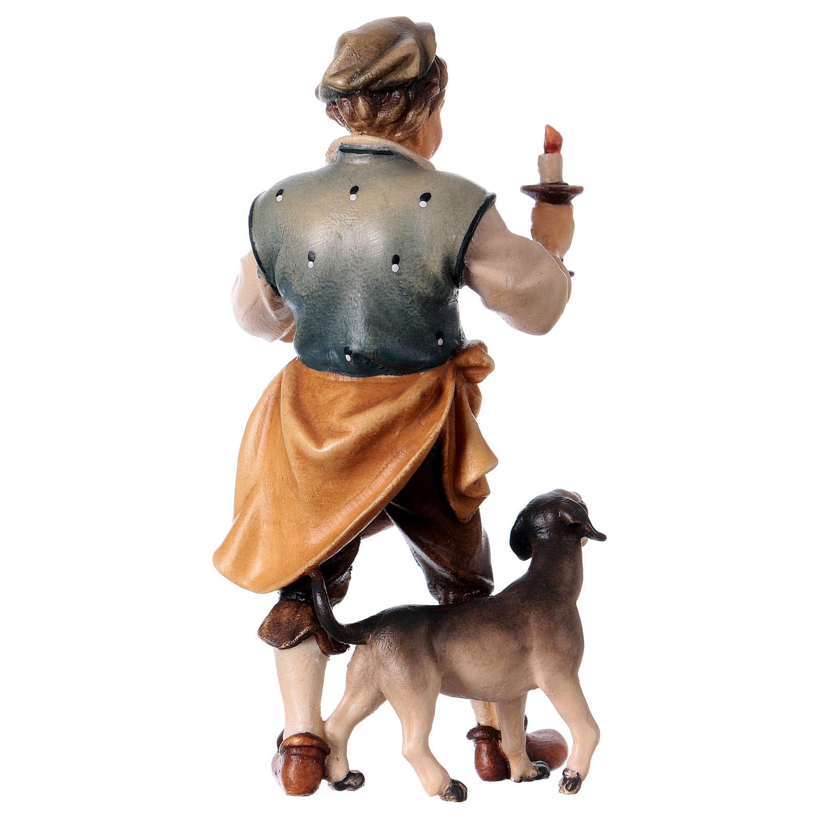 Oste con cane del presepe Original legno dipinto in Valgardena 12 cm 4