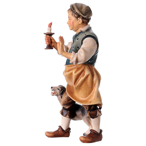 Oste con cane del presepe Original legno dipinto in Valgardena 12 cm 2