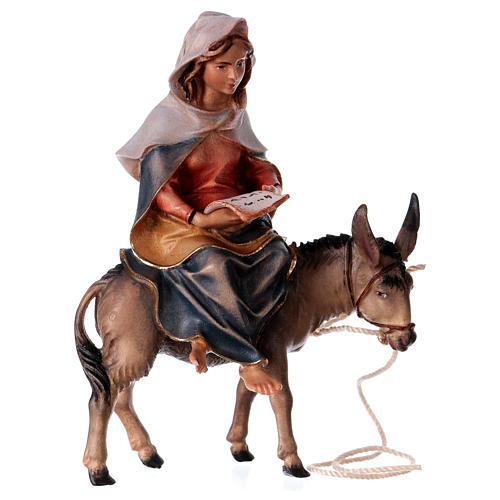 Andata a Betlemme presepe Original legno dipinto in Valgardena 10 cm 2