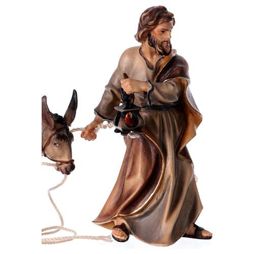 Andata a Betlemme presepe Original legno dipinto in Valgardena 10 cm 3