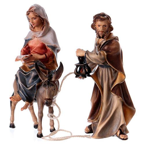 Andata a Betlemme presepe Original legno dipinto in Valgardena 10 cm 4