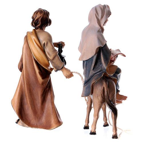 Andata a Betlemme presepe Original legno dipinto in Valgardena 10 cm 5