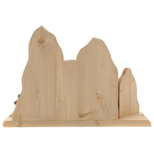 Fuga in Egitto con ponte presepe Original legno dipinto in Val Gardena 10 cm 11