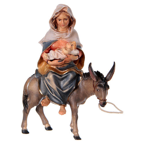Escape to Egypt Original Nativity Scene in painted wood from Valgardena 10 cm 4