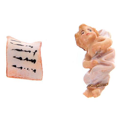 Fuga in Egitto presepe Original legno dipinto in Valgardena 10 cm 8